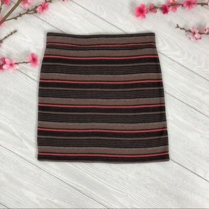 Free PeopleStriped Stretch Mini Skirt